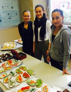 High school students in Vienna prepared snacks to sell and raise money for refugees.